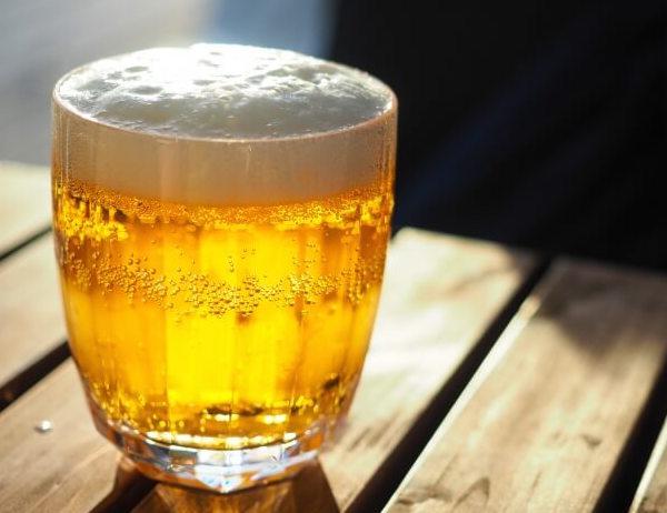 少量のビール